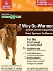 Sentry Worm X Plus 7 Way Broad Spectrum De Wormer M L Dogs Over 25lbs 6 Tablets
