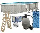 Lake Effect Meadows 18 x 33 x 52 Oval Above Ground Swimming Pool Complete Kit