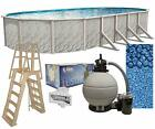 Lake Effect Meadows 15 x 30 x 52 Oval Above Ground Swimming Pool Complete Kit