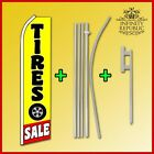 TIRES SALE SUPER FLAG KIT Pole and Ground Spike Included