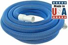 Heavy Duty In Ground Pool Vacuum Hose With Swivel Cuff 1 1 2 Inch by 35 Feet