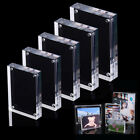 Double faced Clear Crystal Photo Frame Desk Set Acrylic Magnet Picture