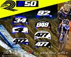 Yamaha PW50 PW 50 50cc motocross mx Custom Number Plate decals stickers