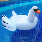 Giant White Mega Swan Inflatable Swimming Pool Toy Float Ride Kids Raft