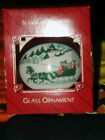HALLMARK Season of the Heart Glass Christmas Ornament