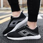 Mens Low Top Sneakers Athletic Shoes Mesh Breathable Lace Up Running Trainers