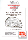 AUDI A4 Quattro Turbo 2001-2004 1.6 1.8 2.0 3.0 Workshop Manual Service V6