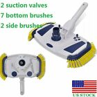 Swimming Pool Vacuum Head Cleaner Brush Above Ground Sweeper Spa 2 Side Brushes
