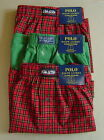 NWT POLO RALPH LAUREN Set of 3 Sz L 35-38 Boxer Underwear CLASSIC FIT Red Cotton