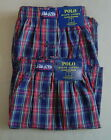 NWT POLO RALPH LAUREN Set of 2 (L 35-38) Boxer Underwear CLASSIC FIT Blue Cotton
