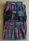NWT POLO RALPH LAUREN Set of 3 (L 35-38) Boxer Underwear CLASSIC FIT Blue Cotton