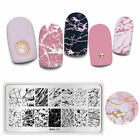 Harunouta Rectangle Stamping Plates Lines Nail Art Image Stamp Templates L079