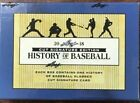 Lot of 3 2018 Leaf History of Baseball Cut Signature Factory Sealed Box