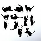 Cat Lovers Cat silhouette style die cuts scrapbooking cards tags bags