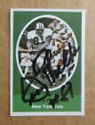 1972 SUNOCO STAMP NFL FOOTBALL GERRY PHILBIN AUTOGRAPH SIGNED NEW YORK JETS