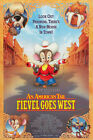 AN AMERICAN TAIL FIEVEL GOES WEST  1 Sheet Movie Poster DS  1991