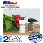 Pepper and Salt Shakers Moisture Proof Spices Tumbler with Hinged Top Flip Lid