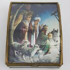 Via Vermont Glass Music Box Christmas Nativity We Three Kings of Orient are