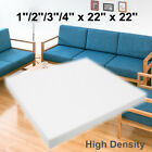 22x22 High Density Seat Foam Rubber Cushion Replacement Upholstery Firm Pad