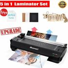 Hot  Cold Laminator 5 in1 Rotary Trimmer Corner Rounder + Free 10 Laminating A4