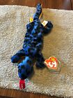 Ty Beanie Baby Lizzy The Lizard Retired PVC Reptile