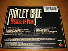 BACK TRAY CARD ONLY Motley Crue Theatre of Pain