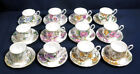 12 Royal Albert China Flower of the Month Series No 1 12 Tea Cup + Saucer Sets