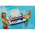 Mega Chill II Heavy Duty Best Floating Cooler Outdoor Pool Fun Float Raft