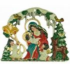 Christmas in the Forest Mary and Baby Jesus Nativity German Pewter Ornament