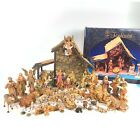 Fontanini Heirloom Nativity Stable Animals Figures Angels Shepherds Lot 44 PCS