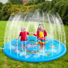 68 Inflatable Spray Splash Water Mat Kids Pad Outdoor Pool Beach Lawn Play Toy