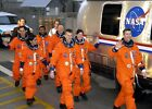 Space Shuttle Columbia Final Crew PHOTO Heading to Launch Pad Tragic Mission