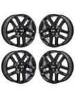 20 CHEVY TRAVERSE 2018 2019 GENUINE OEM GLOSS BLACK WHEELS RIMS BLEM SET 5849
