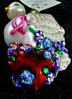 Christopher Radko WINGS OF LOVE Breast Cancer Poland Glass Christmas Ornament