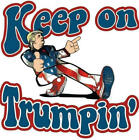 Donald Trump Keep On Trumpin Decal Sticker Yeti Laptop Cellphone Car Window