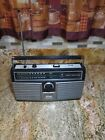 Vintage PANASONIC portable AM/FM Radio + 8 track stereo boombox - RS-836S works