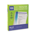 100 Non Glare Standard Weight Sheet Protectors 3 Hole Plastic Page Protectors