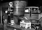 Vintage Truck Sunoco Gas Station PHOTO Service Attendant Pump, Truck Stop Oil