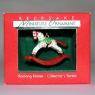 Hallmark 1988 Rocking Horse Series Miniature Ornament First in Series