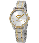 Coach Lex Crystal Accent Silver Dial Two Tone Watch 14502895 MSRP 225