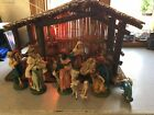 Vintage Nativity Scene Christmas Set Italy 16 Pcs