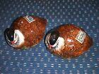 Hand painted 1991 Vintage Salt  pepper shakers good items 2 quails pics