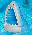 Large Adult Size Canopy Shark Inflatable Lake Pool Water Float Tube 49H x 44W