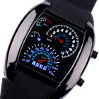 Fashion Quartz Dial Flash LED Waterproof Watch Gift Mens Lady Sports Car Meter