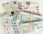Planner Embellishment Lot 12 Stickers Pen Sticky Notes Stamps