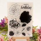Birthday Flower Clear Transparent Rubber Stamp and Cutting Dies DIY Scrapbooking
