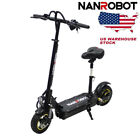 POWEFUL ELETRIC SCOOTER NANROBOT D3 WITH SEAT 800W 48V High speed Foldable US