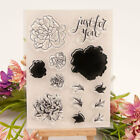 Carnation Clear Transparent Rubber Stamps and Cutting Dies Set DIY Scrapbooking