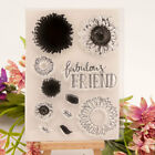 Sunflower Clear Transparent Rubber Stamps Set and Cutting Dies DIY Scrapbooking