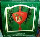 Friends`1985`Friendship Ornament W/Card Inside,Hallmark Tree Ornament->Free 2 US